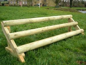 Sloping Rails | portable cross country jump